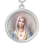 Corazón inmaculado de Maria Colgante Personalizado