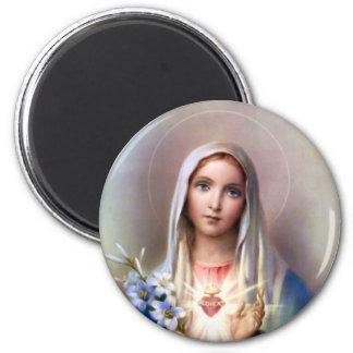 Corazón inmaculado de Maria Imán Redondo 5 Cm
