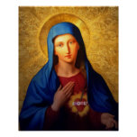 Corazón inmaculado de Maria - nuestra señora Póster