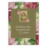 Corazón inmaculado de Maria - rosas/escritura Tarjeta Pequeña