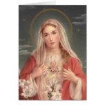 Corazón inmaculado de Maria Tarjeta De Felicitación