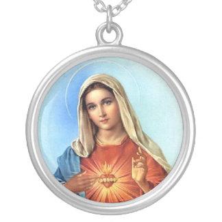 Corazón inmaculado del collar de Maria