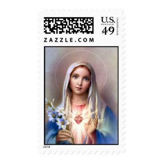 Corazón inmaculado del franqueo de Maria