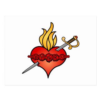 Corazón inmaculado del icono de Maria Postales