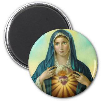 Corazón inmaculado del imán de encargo 1 de Maria