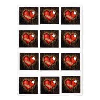 Corazón-invitación del corazón quebrado de la repa