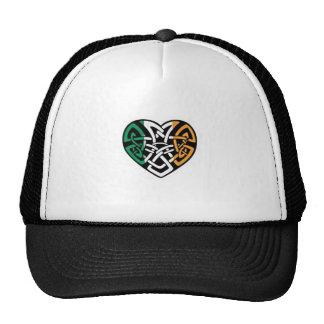 Corazón irlandés de la bandera gorro de camionero
