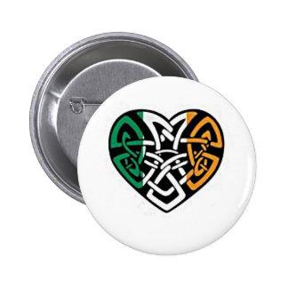 Corazón irlandés de la bandera pins