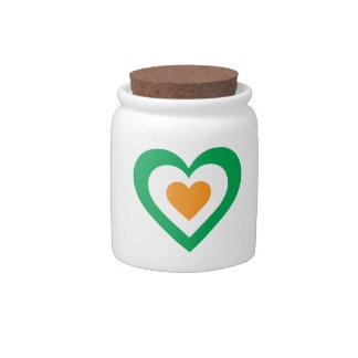 Corazón irlandés jarra para caramelo