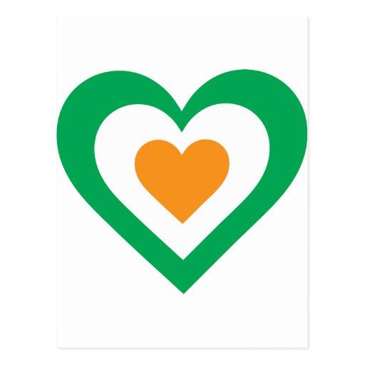Corazón irlandés postal