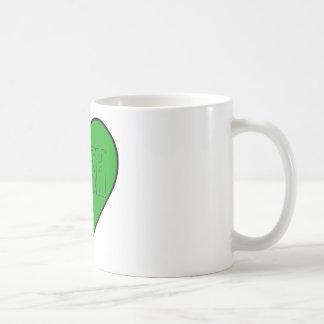 corazón irlandés verde tazas de café