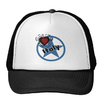 Corazón Italia Gorro De Camionero