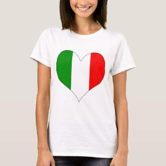 Corazón italiano de la bandera playera