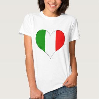 Corazón italiano de la bandera polera