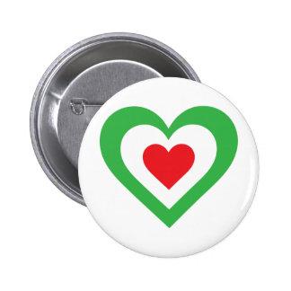 Corazón italiano pin redondo de 2 pulgadas