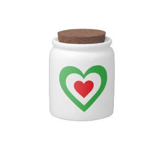 Corazón italiano plato para caramelo
