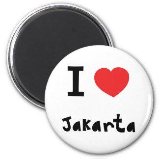 Corazón Jakarta Imán Redondo 5 Cm