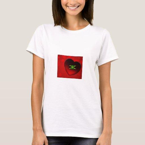Corazón jamaicano T--camisa Playera