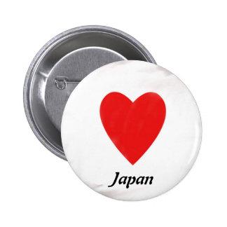Corazón Japón Pins