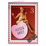 ¡Corazón KissMe del caramelo! Tarjeta de la tarjet