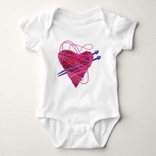 corazón kniting body para bebé