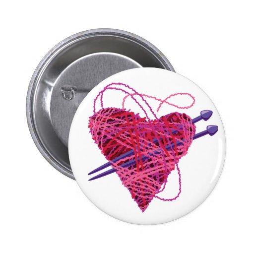 corazón kniting pin
