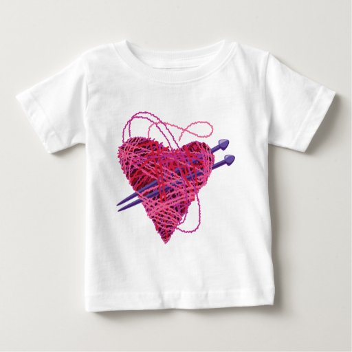 corazón kniting playera
