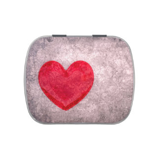 Corazón lavado a la piedra jarrones de caramelos