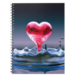 Corazón Libro De Apuntes Con Espiral