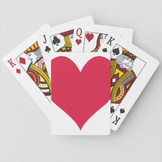 Corazón lindo carmesí cartas de póquer