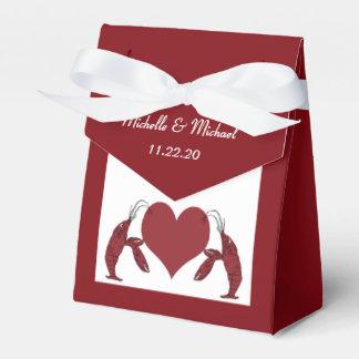 Corazón lindo de la langosta de los cangrejos caja para regalos
