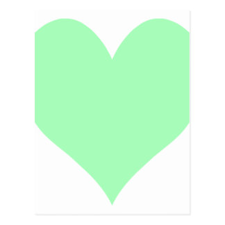 Corazón lindo de la verde menta tarjeta postal