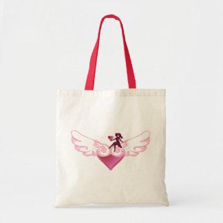 Corazón lindo del ala bolsa