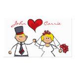 Corazón lindo del amor del novio de la novia de lo plantilla de tarjeta de negocio