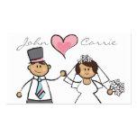 Corazón lindo del amor del novio de la novia de lo tarjeta de visita