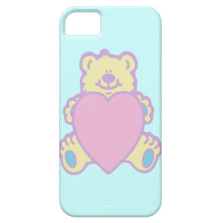 Corazón lindo del amor del oso de peluche iPhone 5 funda