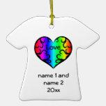Corazón lindo del arco iris del victorian conmemor ornato
