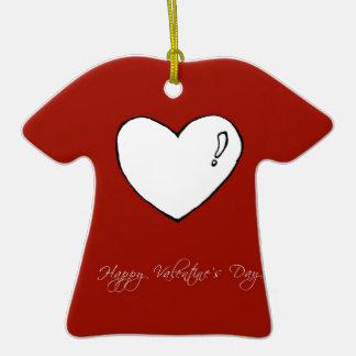 Corazón lindo del el día de San Valentín feliz Ornamente De Reyes