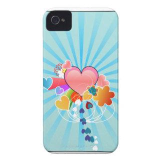 Corazón lindo iPhone 4 funda