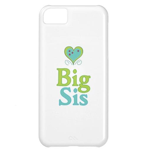 Corazón lindo grande 2 del SIS Funda Para iPhone 5C