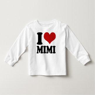 Corazón lindo Mimi de I Playera De Bebé