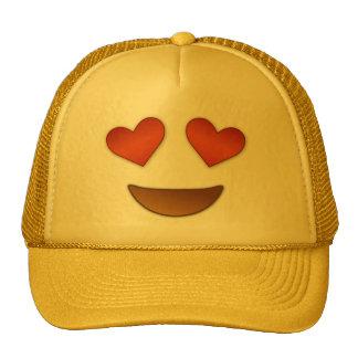 Corazón lindo para el emoji de los ojos gorro