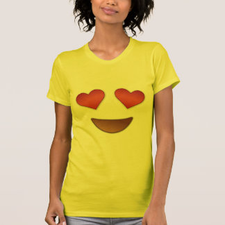Corazón lindo para el emoji de los ojos playera