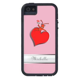 Corazón lindo personalizado de Lobser de los iPhone 5 Carcasa