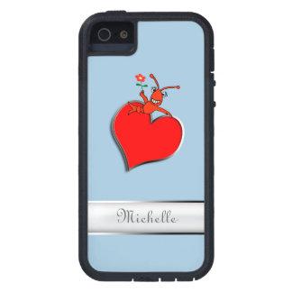 Corazón lindo personalizado de Lobser de los iPhone 5 Fundas