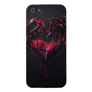 Corazón líquido del amor. Caja negra iPhone 5 Protector