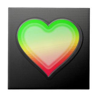 Corazón liso teja cerámica