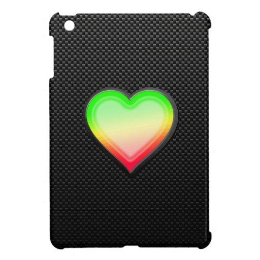 Corazón liso iPad mini cárcasas