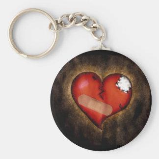 Corazón-llavero del corazón quebrado de la reparac