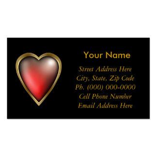 Corazón llenado amor tarjetas de visita